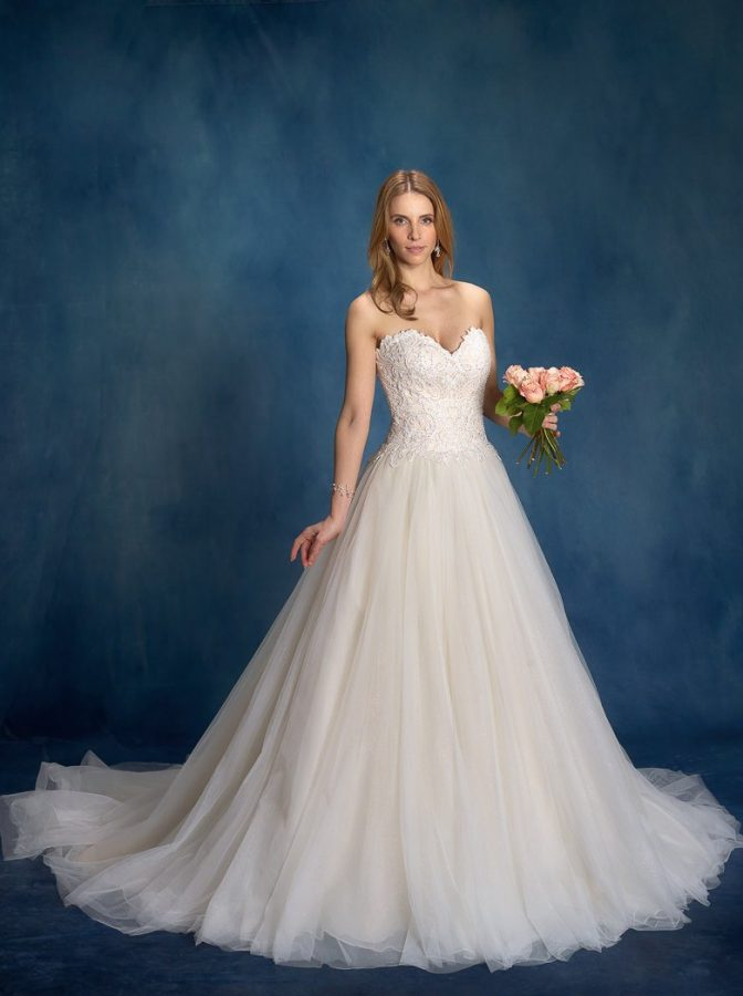 bride in her southport wedding dress