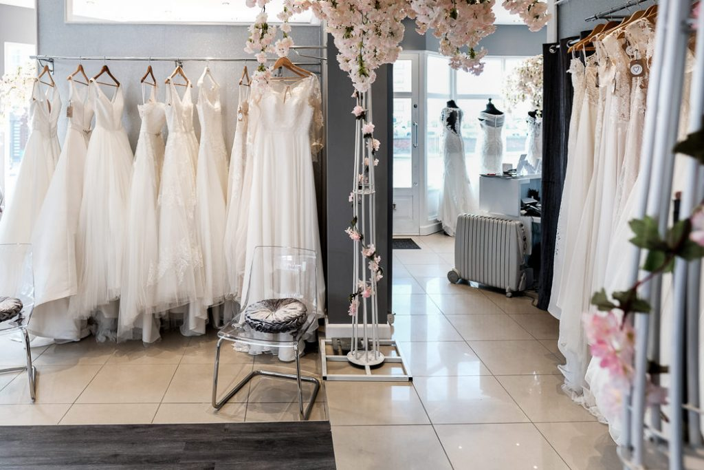 photograph showing the interior of This Is Me Bridal southport bridal shop