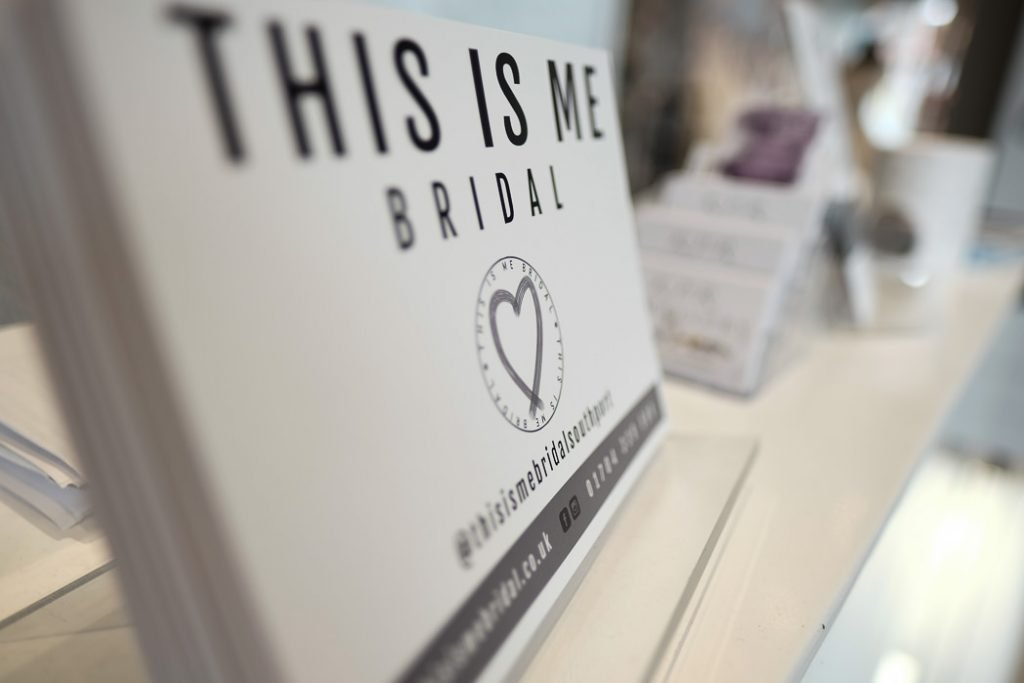 leaflets used in our southport bridal shop