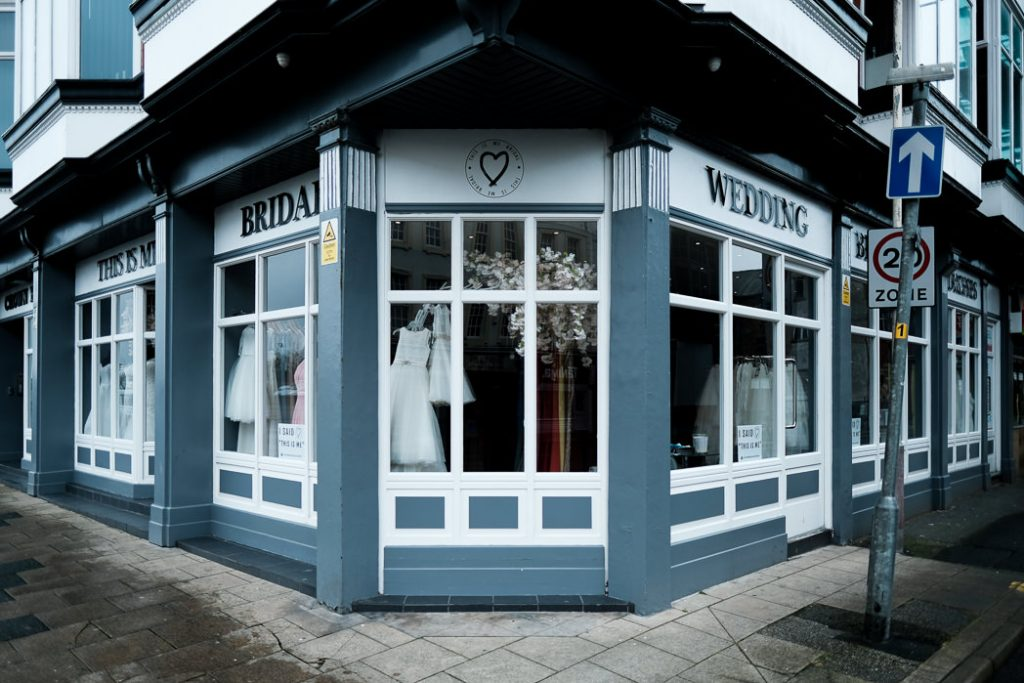 photograph showing the outside of This Is Me Bridal wedding dress southport shop