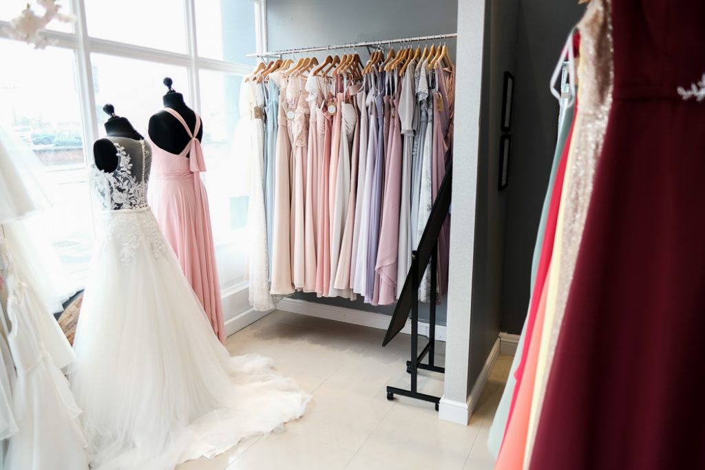 bridesmaids section at this is me bridal. Illustrate the purpose of our first bridal appointment tips