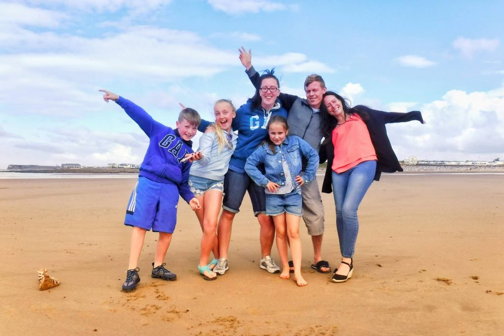 Sarah Alexander with her family