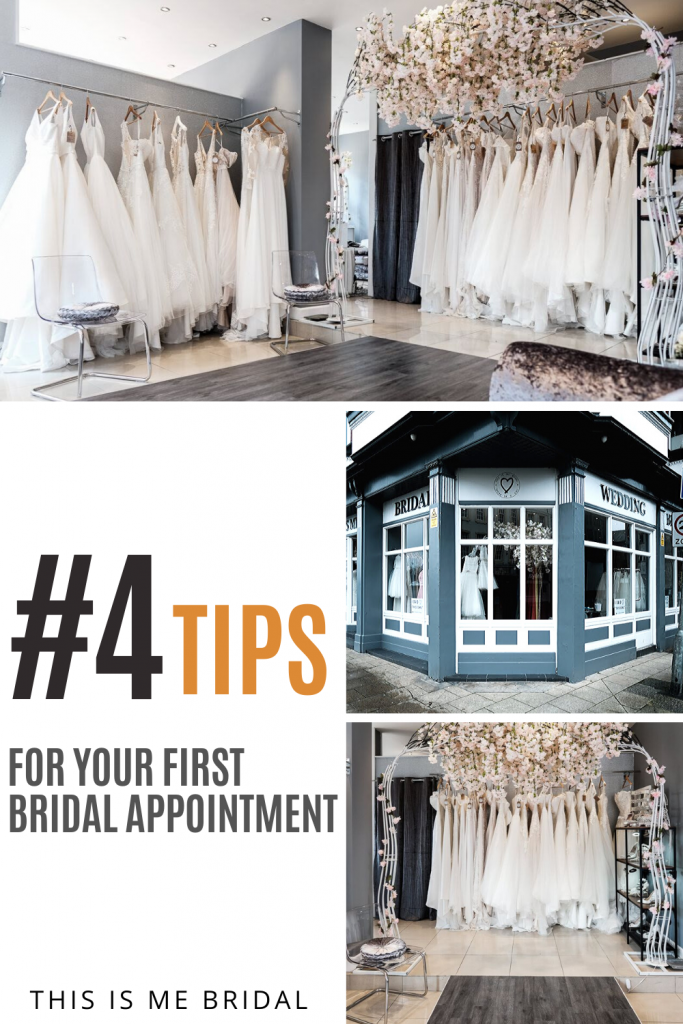 top tips for your first bridal appointment infographic