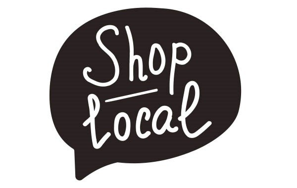 an image saying shop local